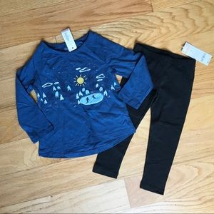 NWT Gymboree Tee And Leggings Outfit